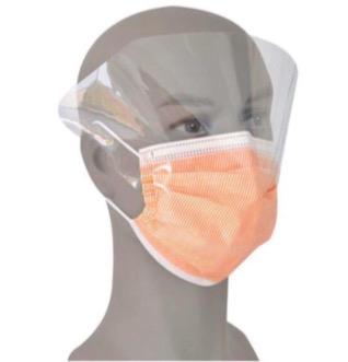 Disposable Non Woven 3 Ply Face Mask With Eye Shield